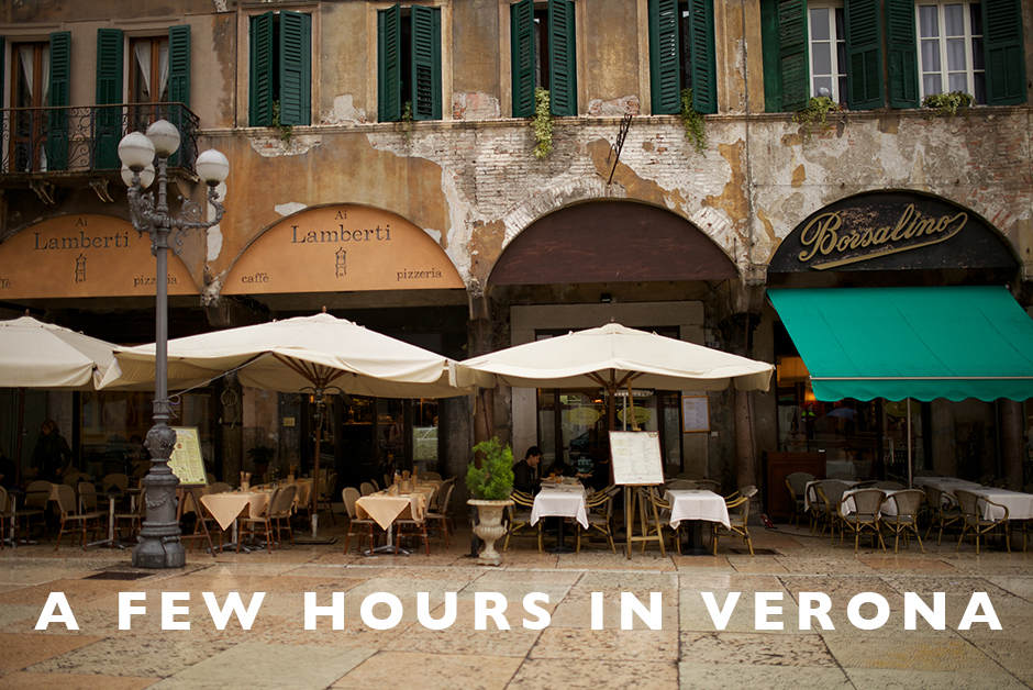a few hours in verona italy