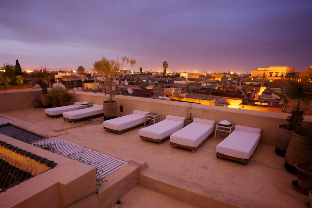 Riad 72 Marrakech rooftop sunset