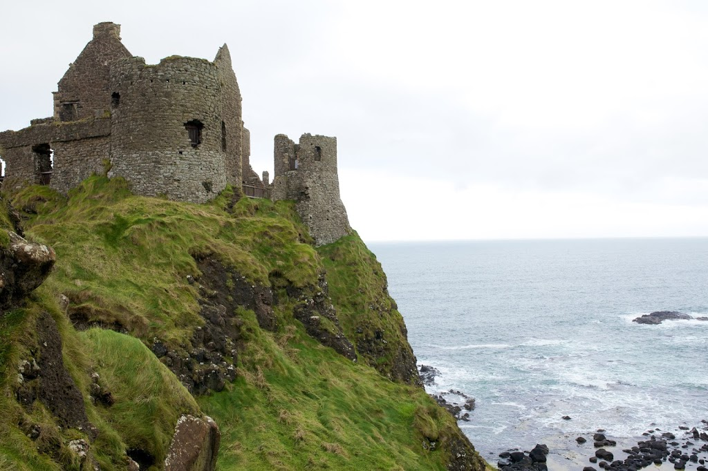 exploring Dunluce Castle Northern Ireland