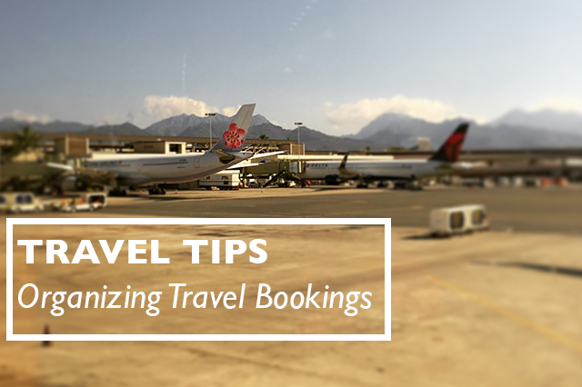 organizing travel bookings title
