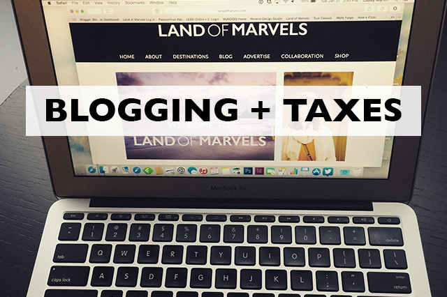 blogging and taxes
