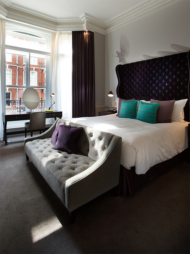 ampersand hotel boutique hotel London room design