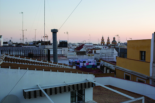 corral del rey Sevilla Spain hotel review rooftop view
