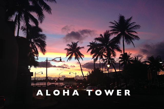aloha tower sunset