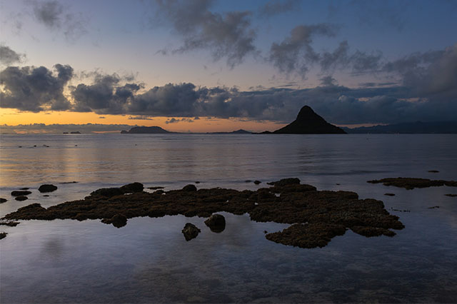 sunrise at Kualoa Park Oahu
