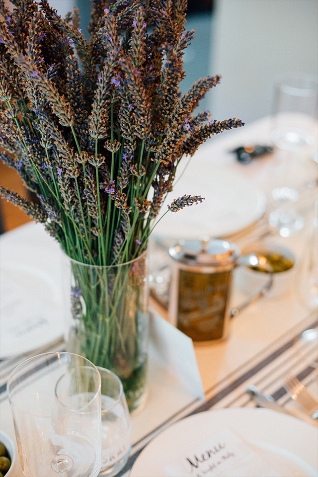 lavender for Italian dinner party