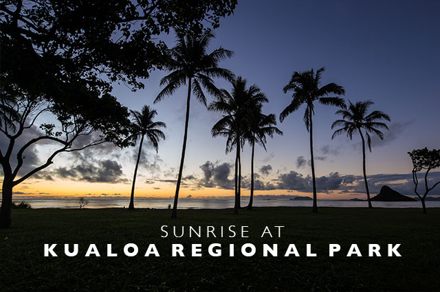 sunrise at Kuala Regional Park Hawaii