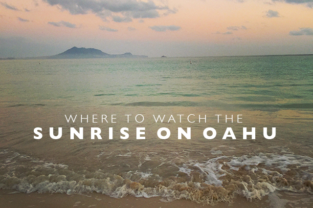 where to watch the sunrise on Oahu