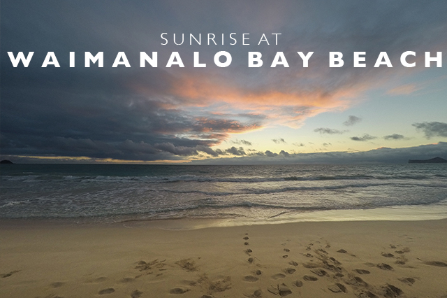 sunrise at waimanalo bay beach