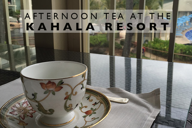 afternoon tea at the Kahala Resort