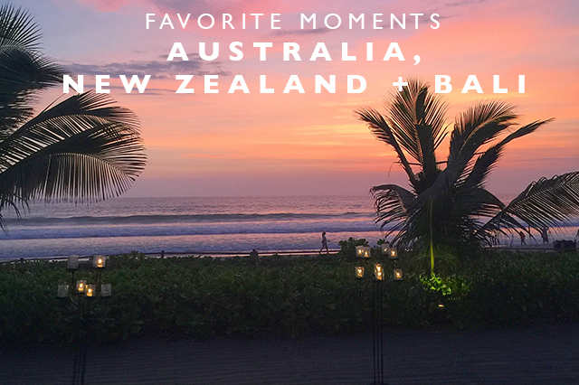 fave moments aus nz bali