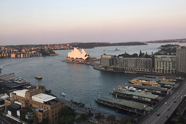 four seasons Sydney hotel review view from room