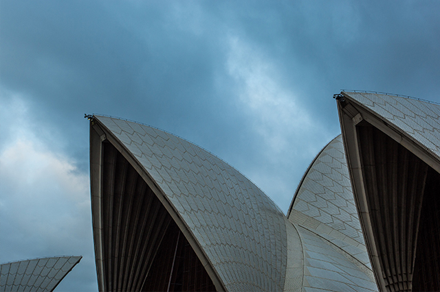 Sydney opera house at dawn