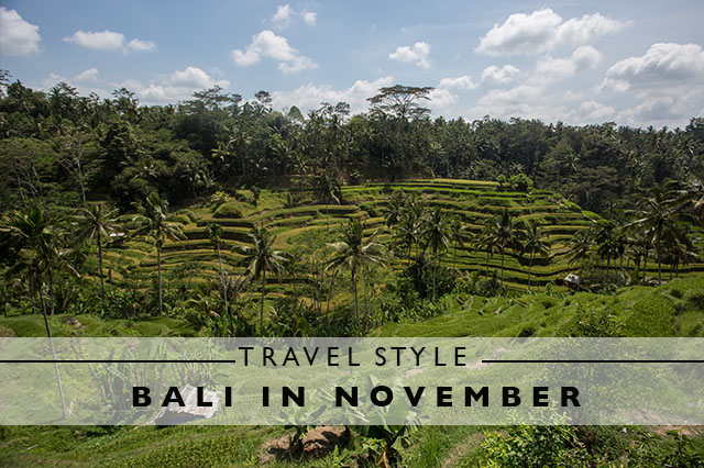 travel style for Bali