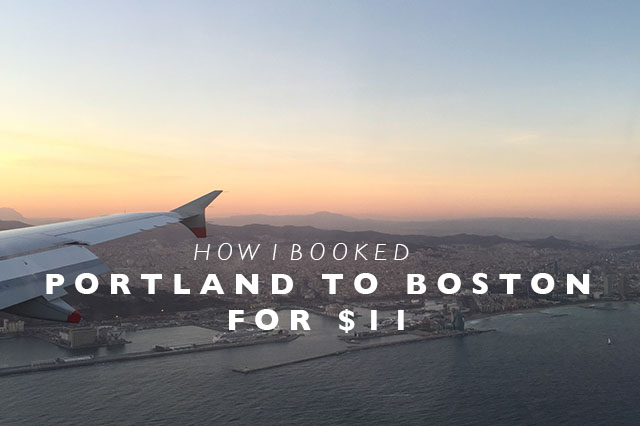 pdx to boston how i booked