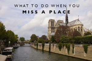 What to Do When You Miss a Place
