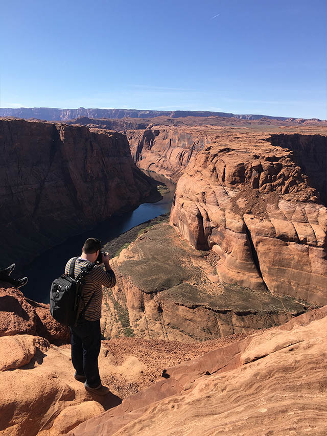 view over Horseshoe Bend
