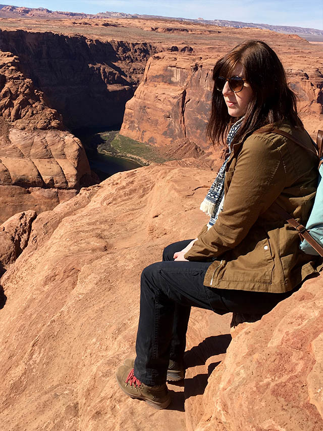 Looking out over Horseshoe Bend