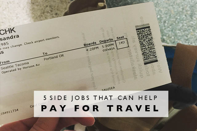 side jobs that can help pay for travel