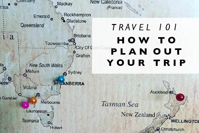 how to plan out your trip