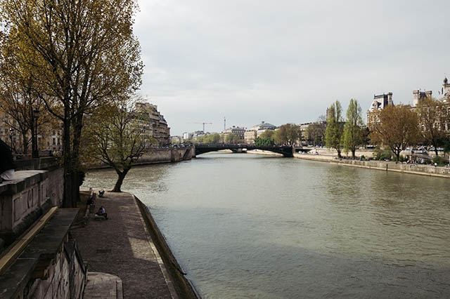 Spring day on the Seine Paris