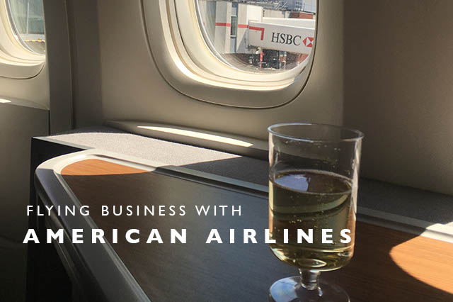 flying business with American Airlines