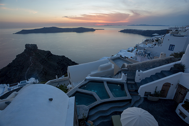 Sophia suite Santorini hotel review view