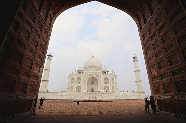 visiting the Taj Mahal India