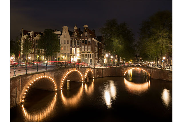 Lights on Canals in Amsterdam