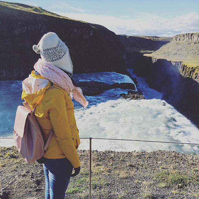 visiting Gullfoss Waterfall Iceland