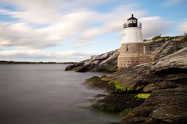 lighthouse in Newport Rhode Island