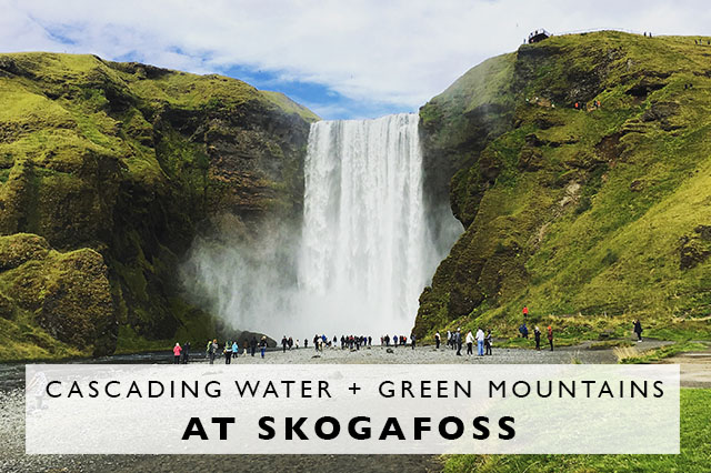 visiting skogafoss waterfall