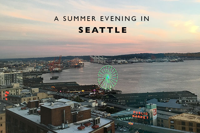 summer evening in seattle