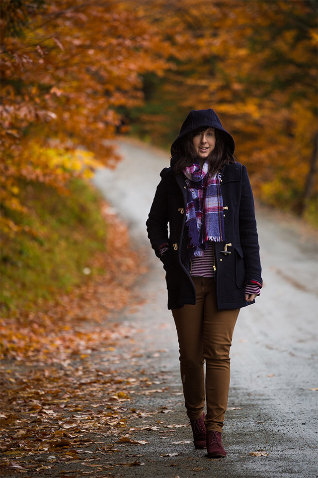 travel outfit for Vermont in the Fall