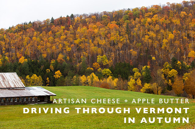 Driving through Vermont in Autumn