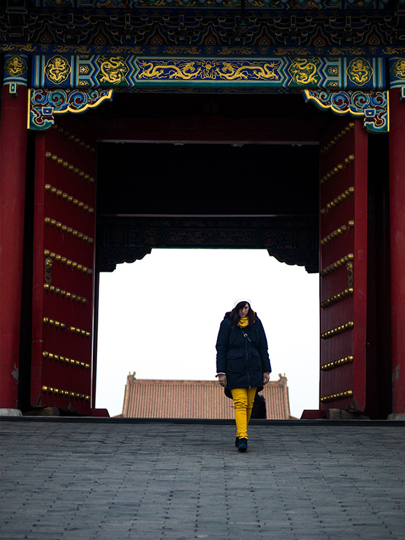travel outfit for Beijing in winter