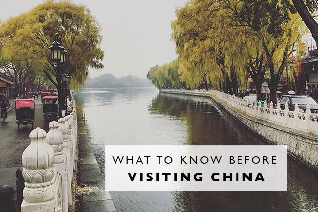 what to know before visiting china