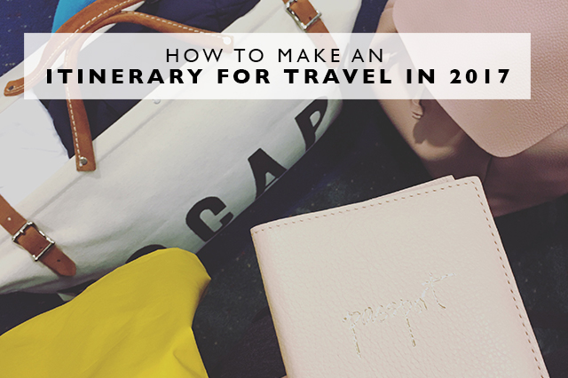 how to make an itinerary for travel