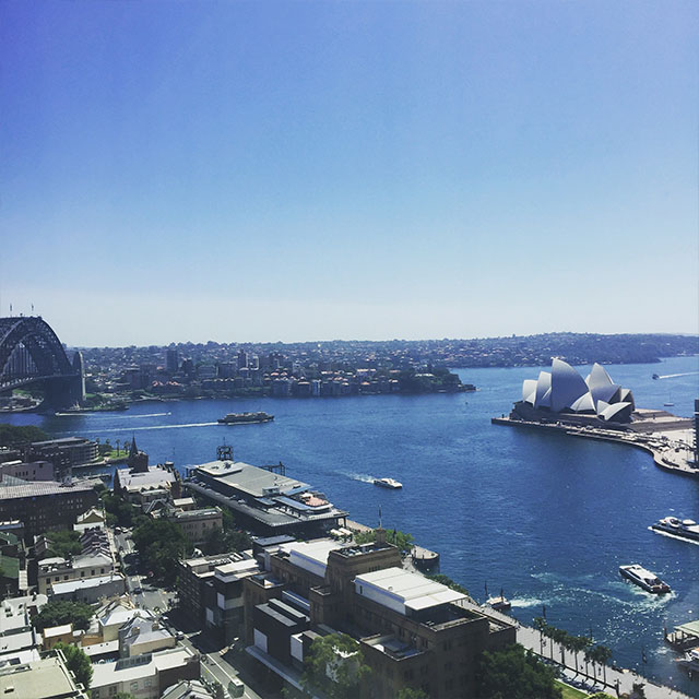 Four Seasons Sydney hotel view