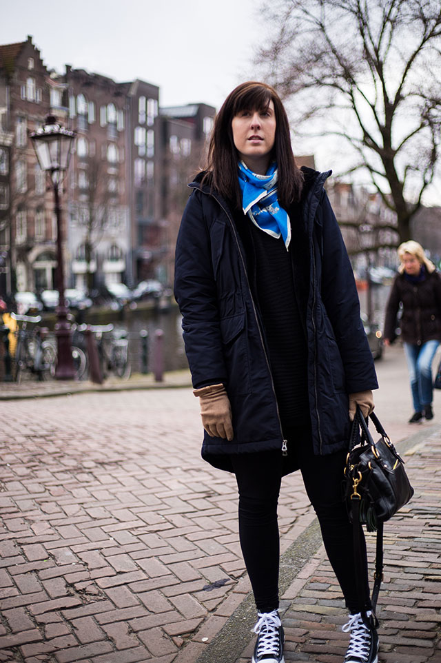 travel outfit for Amsterdam in Winter