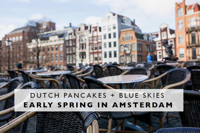 early spring in Amsterdam