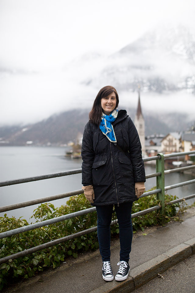 travel outfit for Hallstatt Austria in Winter