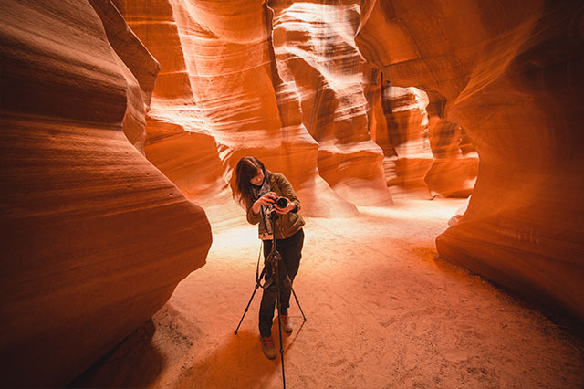 avoid the crowds at Antelope Canyon
