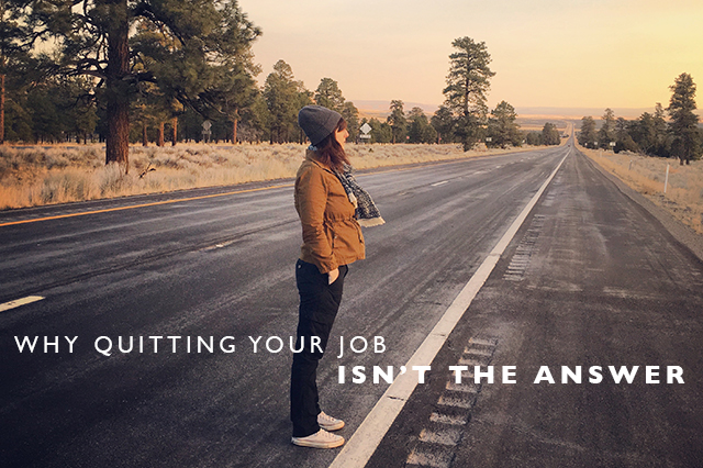 quitting your job to travel