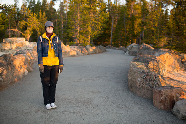travel outfit for Yellowstone National Park