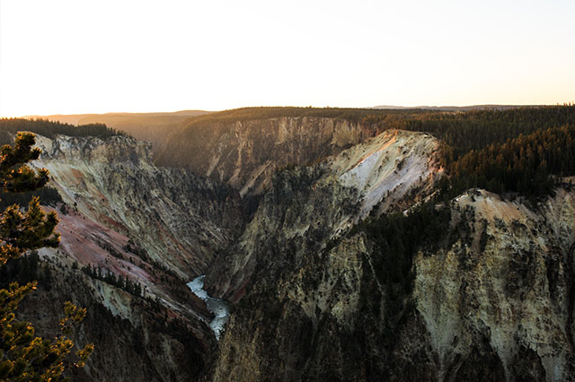 Sunrise at the Grand Canyon of the Yellowstone