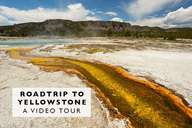 video tour of a road trip to Yellowstone