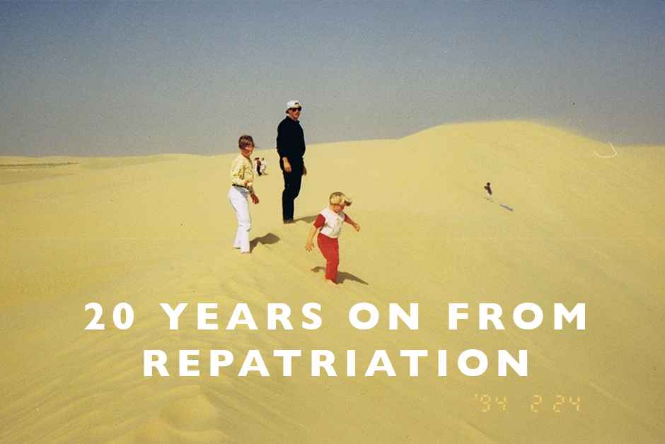 20 years on from repatriation