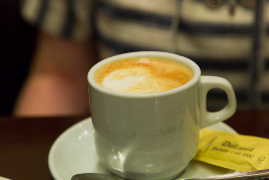 Order a cafe au lait after every meal