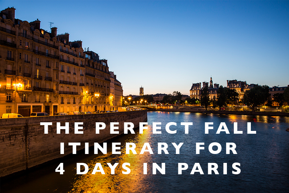 itinerary for 4 days in Paris